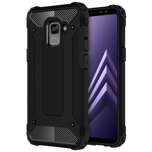 Military Defender Shockproof Case - Samsung Galaxy A8+ (2018) - Black
